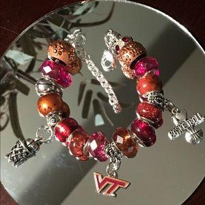 Jewelry - Virginia Tech Inspired Charm Bracelet